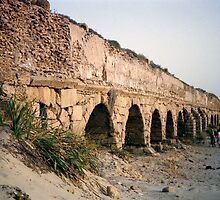 Roman ruins in Isreal by Tom Davidson