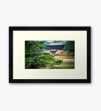 Trees-Korean gardens Framed Print