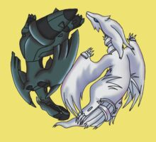 Pokemon YinYang- Reshiram and Zekrom Kids Tee