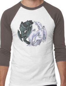 Pokemon YinYang- Reshiram and Zekrom Men's Baseball ¾ T-Shirt