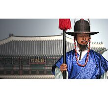 South Korea-standing guard Photographic Print