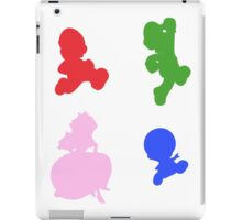 Super Mario 3D World - Coloured Silhouettes iPad Case/Skin