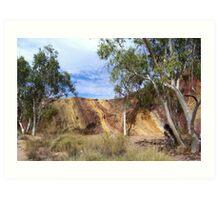 Ochre Pits, West MacDonnell Range Art Print