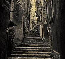 Monterosso al Mare street moody by Tom Davidson