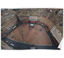 Campo in heart of Siena - the origin of Burnt Siena. Poster