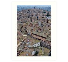 Siena Rooftops Art Print