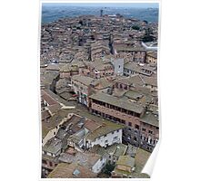 Siena Rooftops Poster