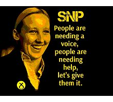 Mhairie Black SNP People Need A Voice Photographic Print
