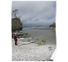 Rest stop before the approaching storm, Pacific Rim National Park Poster