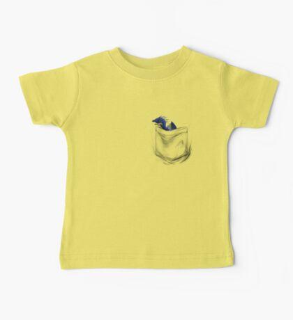 Little Dragon In My Pocket 1 - Blue Baby Tee