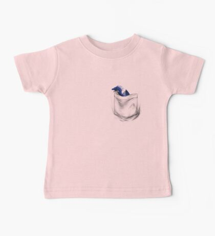 Little Dragon In My Pocket 1 - Blue Baby Tee