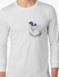 Little Dragon In My Pocket 1 - Blue Long Sleeve T-Shirt
