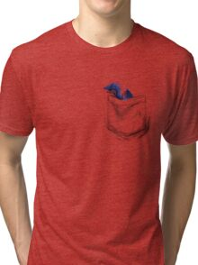 Little Dragon In My Pocket 1 - Blue Tri-blend T-Shirt