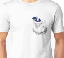 Little Dragon In My Pocket 1 - Blue Unisex T-Shirt