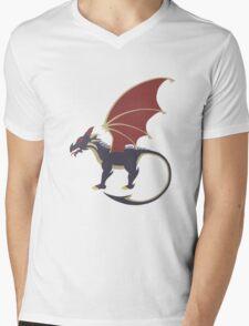 Cool Dragon Mens V-Neck T-Shirt