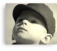 boy in the cap Canvas Print