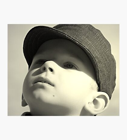 boy in the cap Photographic Print