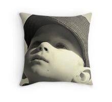 boy in the cap Throw Pillow