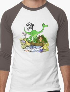 Arlo and Spot  Men's Baseball ¾ T-Shirt