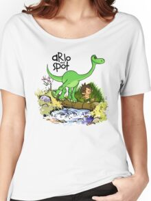 Arlo and Spot  Women's Relaxed Fit T-Shirt