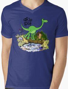 Arlo and Spot  Mens V-Neck T-Shirt