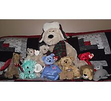 Collection of stuffed animals Photographic Print