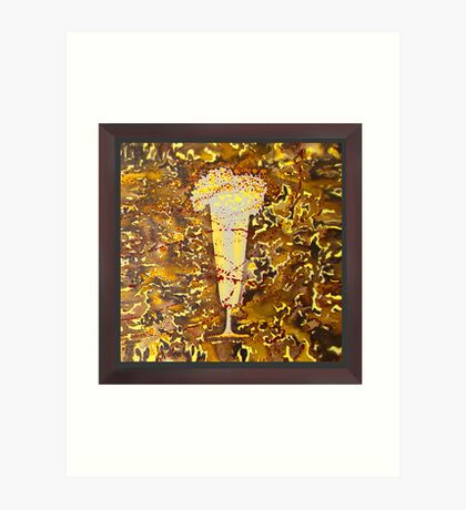 Yellow Grapes Beer Art Print