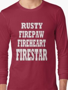 Warriors' Firestar Long Sleeve T-Shirt