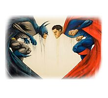 batman and superman Photographic Print