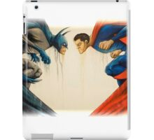 batman and superman iPad Case/Skin