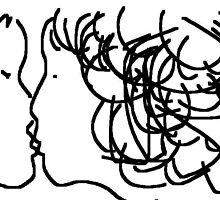 the kiss -(020611)- digital artwork/ms paint    by paulramnora