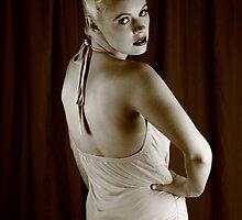 Nicky portrays Betty - sepia 2 by Glynn Jackson