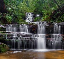 Flowing Terrace Falls by Mark  Lucey