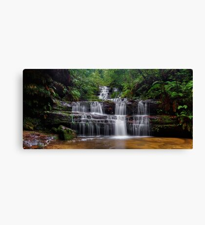 Flowing Terrace Falls Canvas Print