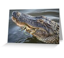 Alligator eating a Blue Crab Greeting Card