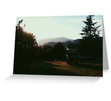 English landscape in Galicia. Greeting Card