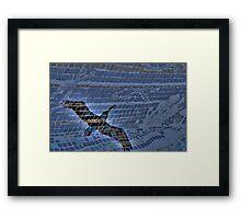 Pelican Meets Glass Tile Bench Framed Print