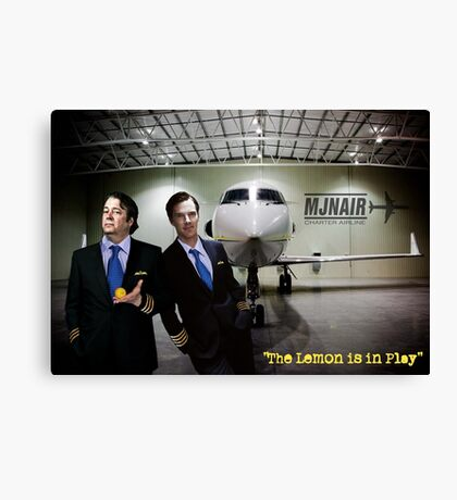 The Lemon is in Play Canvas Print
