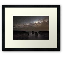 Milky Way Shadow Framed Print