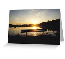 Sunset on the bench! Greeting Card