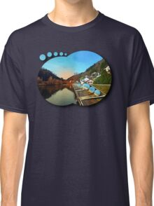 Pontoon landing stages in the harbour | waterscape photography Classic T-Shirt