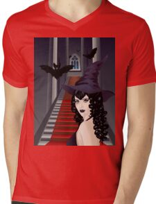Gothic Stairs and Witch 2 Mens V-Neck T-Shirt
