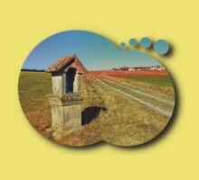 Wayside shrine with scenery 2   landscape photography Kids Tee