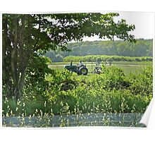 The Turf Farmer - Cutting The Turf - Kingston - Rhode Island Poster