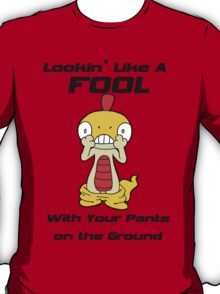 Pokemon- Scraggy- Pants on the Ground T-Shirt
