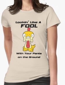 Pokemon- Scraggy- Pants on the Ground Womens Fitted T-Shirt