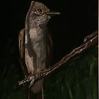 Ash Throated Flycatcher by Rebecca Lee Means