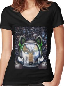 Ground Control Women's Fitted V-Neck T-Shirt