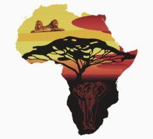 africa, elephant, lion Kids Tee