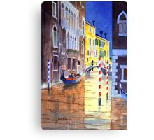Reflections Of Venice Italy Canvas Print